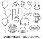 st patrick's day irish icons...   Shutterstock .eps vector #1028102992
