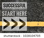 successful start here words on... | Shutterstock . vector #1028104705