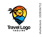 travel logo icon vector design... | Shutterstock .eps vector #1028106712