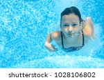 Child Swims In Swimming Pool...