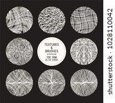 hand drawn wavy linear textures ... | Shutterstock .eps vector #1028110042