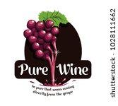 pure wine grapes liquid logo... | Shutterstock .eps vector #1028111662