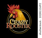 crazy rooster chicken cock farm ...   Shutterstock .eps vector #1028111692