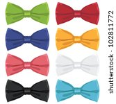 collection of bow ties ... | Shutterstock .eps vector #102811772