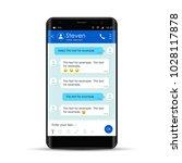 modern smartphone with... | Shutterstock .eps vector #1028117878