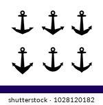 ships anchor vector icon set | Shutterstock .eps vector #1028120182