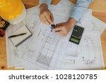 engineer man working in the... | Shutterstock . vector #1028120785