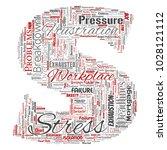 vector conceptual mental stress ... | Shutterstock .eps vector #1028121112