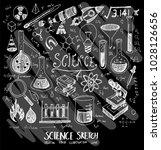 science doodle illustration...   Shutterstock .eps vector #1028126656