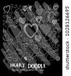 heart doodle illustration... | Shutterstock .eps vector #1028126695