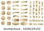golden banner ribbon label... | Shutterstock .eps vector #1028129152