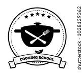 cooking school emblem pretty...   Shutterstock .eps vector #1028129362