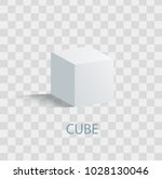 cube isolated geometric figure... | Shutterstock .eps vector #1028130046