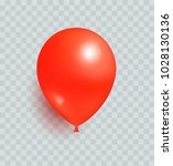 balloon of red color realistic... | Shutterstock .eps vector #1028130136
