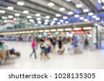 abstract blurred in airport... | Shutterstock . vector #1028135305