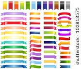 big color web ribbons and... | Shutterstock .eps vector #102813575