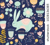 Seamless Pattern With Rabbit....