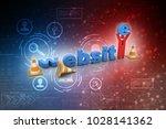 3d illustration website under... | Shutterstock . vector #1028141362