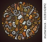 set of vector cartoon doodle...   Shutterstock .eps vector #1028142892