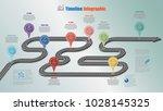 business road map timeline... | Shutterstock .eps vector #1028145325