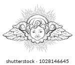 Cherub Cute Winged Curly...
