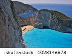 white cliffs  colorful sea and  ... | Shutterstock . vector #1028146678