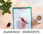 mockup for check list  empty... | Shutterstock . vector #1028163472