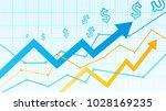 stock market diagram | Shutterstock .eps vector #1028169235