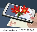 augmented reality. ar. flowers... | Shutterstock .eps vector #1028172862