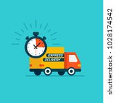 express delivery service.... | Shutterstock .eps vector #1028174542