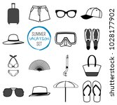summer vacation set. summer... | Shutterstock . vector #1028177902