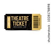 vector black and gold theatre... | Shutterstock .eps vector #1028178898