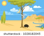 australia wild background... | Shutterstock .eps vector #1028182045
