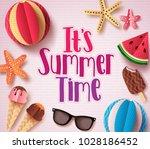 it's summer time vector... | Shutterstock .eps vector #1028186452