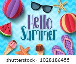 Hello Summer Vector Banner...