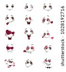 set of people with emotions.... | Shutterstock .eps vector #1028192716