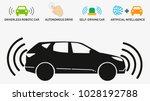autonomous car. self driving... | Shutterstock .eps vector #1028192788