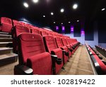 rows of movie theater seats | Shutterstock . vector #102819422