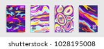 modern abstract covers. cool... | Shutterstock .eps vector #1028195008
