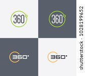 360 degrees view vector icons... | Shutterstock .eps vector #1028199652