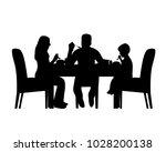 silhouette of a home scene were ... | Shutterstock .eps vector #1028200138