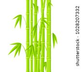 stems of bamboo in simple style ... | Shutterstock .eps vector #1028207332