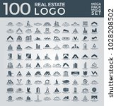 mega set and big group  real... | Shutterstock .eps vector #1028208502