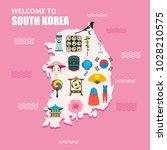 welcome to south korea concept. ...   Shutterstock .eps vector #1028210575