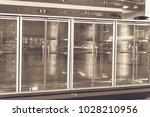 empty commercial fridges at...   Shutterstock . vector #1028210956
