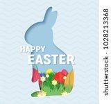 3d abstract paper cut... | Shutterstock .eps vector #1028213368