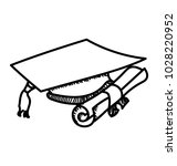 commencement concept with...   Shutterstock .eps vector #1028220952