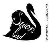 swan silhouette  illustration   Shutterstock . vector #1028223745