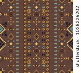 geometric embroidery style.... | Shutterstock .eps vector #1028226202