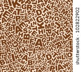 Abstract Brown Letters Seamles...